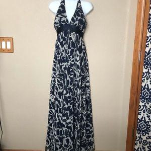 BCBG MaxAzria Blue halter 100% silk Dress 4